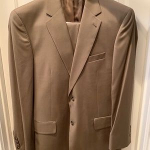 Jos. A. Bank Tan Color Suit - Coat 41 R and Pants